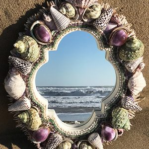 ASSORTED SHELLS MIRROR