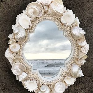 PEARLIZED SHELL MIRROR